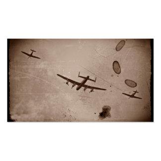 Paso elevado de Avro Lancaster Plantilla De Tarjeta De Negocio