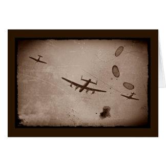 Paso elevado de Avro Lancaster Tarjeta De Felicitación