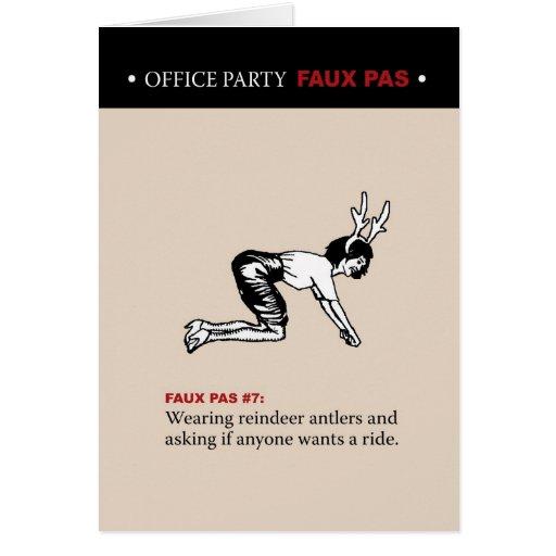 Paso en falso #7 de las fiestas en la oficina tarjeta de felicitación