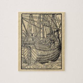 Paso en un imán rectangular de la foto del buque puzzle