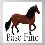 """Paso Fino Bay """"Paso Fino"""" Horse posters"""