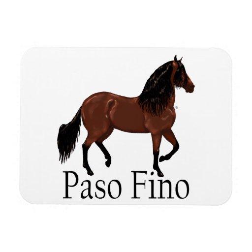 "Paso Fino Bay ""Paso Fino"" Horse Rectangular Photo Magnet"