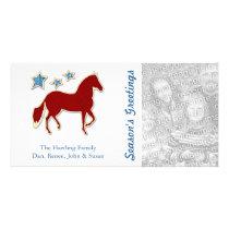 Paso Fino Festive Stars Personalized Card