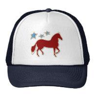 Paso Fino Festive Stars Trucker Hats