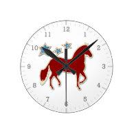 Paso Fino Festive Stars Wall Clock