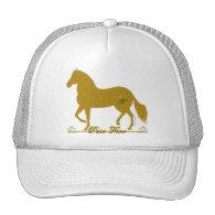 Paso Fino Gold Silhouette Heart Hat