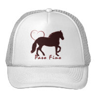 Paso Fino Hearts Mesh Hats
