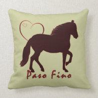 Paso Fino Hearts Throw Pillows