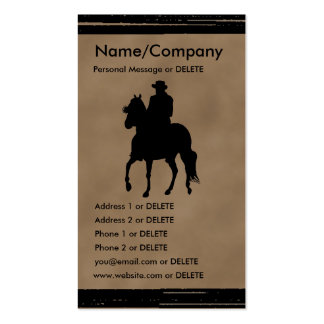 Paso Fino Horse and Rider Silhouette Business Double-Sided Standard Business Cards (Pack Of 100)