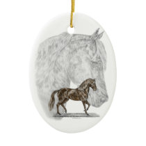 Paso Fino Horse Art Ceramic Ornament
