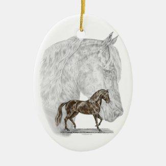 Paso Fino Horse Art - Christmas Tree Ornament