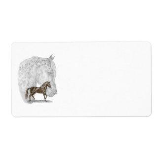 Paso Fino Horse Art Label