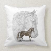 Paso Fino Horse Art Pillow