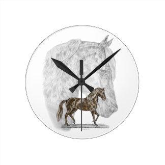 Paso Fino Horse Art Round Clock