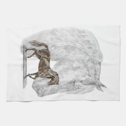 Paso Fino Horse Art Towel