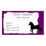 Paso Fino Horse Banner Profile Business Card