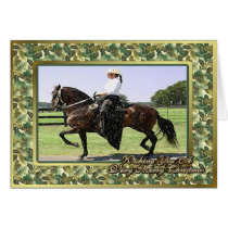 Paso Fino Horse Blank Christmas Card