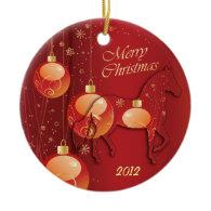 Paso Fino Horse Christmas Joy Christmas Ornaments
