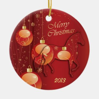 Paso Fino Horse Christmas Joy Date