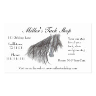 Paso Fino Horse Drawing Business Cards