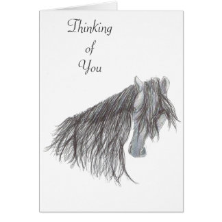 Paso Fino Horse Drawing Greeting Card