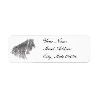 Paso Fino Horse Drawing Return Address Label