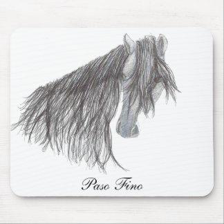 Paso Fino Horse Drawing Mouse Pad