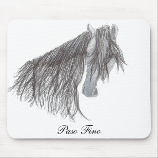 Paso Fino Horse Drawing Mousepads