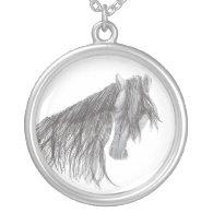 Paso Fino Horse Drawing Pendants