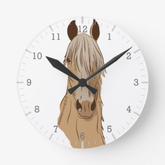 Paso Fino Horse Face Round Wallclocks