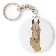 Paso Fino Horse Face Keychain