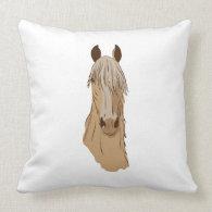Paso Fino Horse Face Throw Pillows