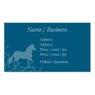 Paso Fino Horse Flourish Profile Business Card Template
