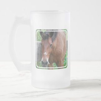 Paso Fino Horse Frosted Beer Mug