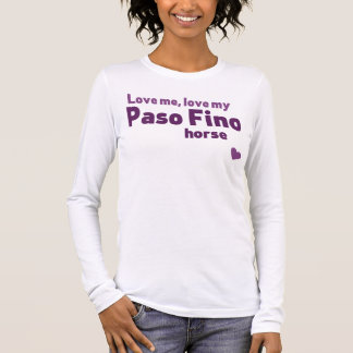 Paso Fino horse Long Sleeve T-Shirt