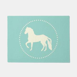 Paso Fino horse silhouette Doormat