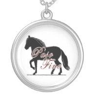 Paso Fino Horse Silhouette Personalized Necklace