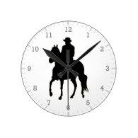 Paso Fino Horse Silhouette Rider Clocks
