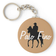 Paso Fino Horse Silhouette Rider Keychain