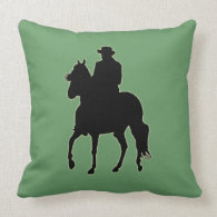 Paso Fino Horse Silhouette Rider Pillows