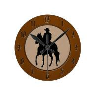 Paso Fino Horse Silhouette Rider Wall Clocks