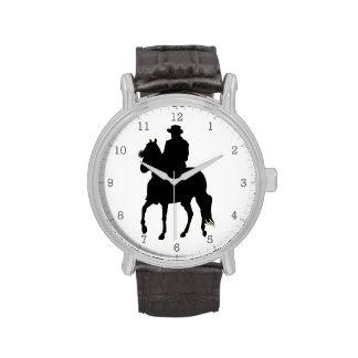 Paso Fino Horse Silhouette Rider Wrist Watches