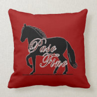 Paso Fino Horse Silhouette Throw Pillow