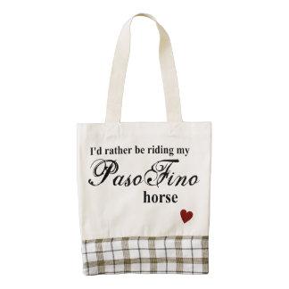 Paso Fino horse Zazzle HEART Tote Bag