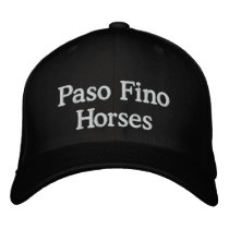 Paso Fino Horses Embroidered Baseball Cap