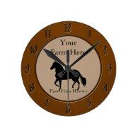 Paso Fino Horses - Personalize It Round Wallclock