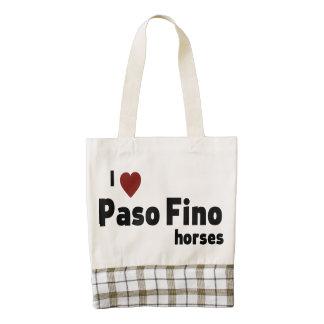 Paso Fino horses Zazzle HEART Tote Bag