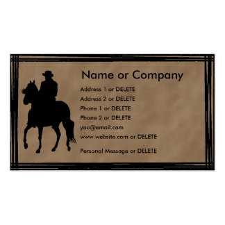 Paso Fino Rider Silhouette Personal Profile Double-Sided Standard Business Cards (Pack Of 100)