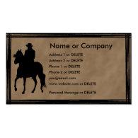 Paso Fino Rider Silhouette Personal Profile Business Card