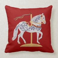 Paso Fino Rose Scroll Carousel Horse Pillows